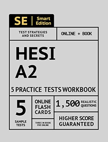 Download HESI A2 Practice Tests Workbook: 5 Full Length Practice Tests Both In Book + Online, 1,500 Realistic Questions and Online Flashcards for all subjects for the HESI Admissions Assessment 4th Edition Exam 1949147207