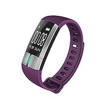防水スマートブレスレット歩数計アクティビティトラッカー睡眠監視のためのアンドロイド Ios のブレスレット, 心拍数の監視,Purple