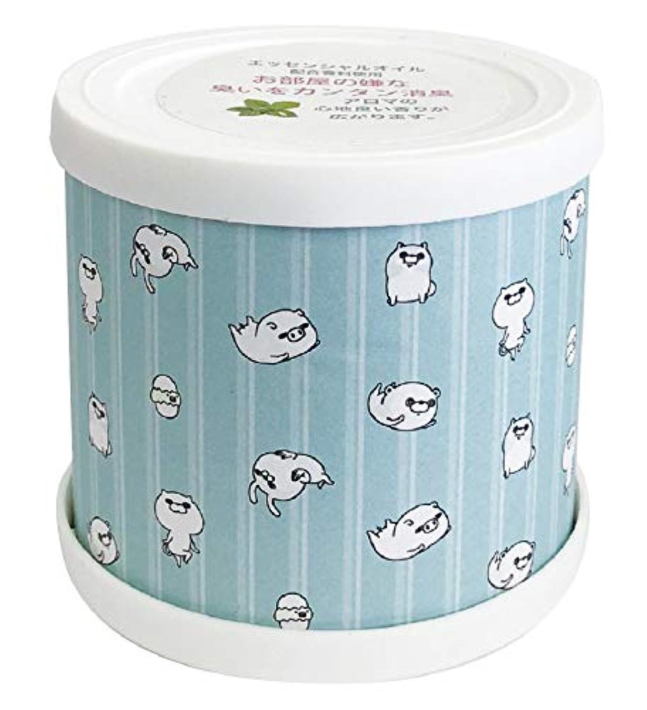 ブランド名気をつけてアレルギー性ヨッシースタンプ フレグランスジェル パターン青 置き型 消臭成分配合 グリーンティーの香り ABD-021-001