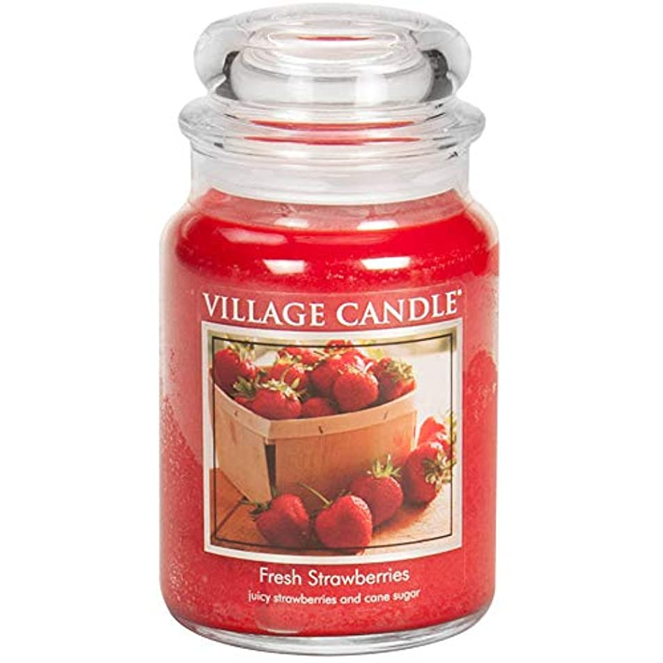 失望させる解説クレーンVillage Candle Large Fragranced Candle Jar - 17cm x 10cm - 26oz (1219g)- Fresh Strawberries - upto 170 hours burn...