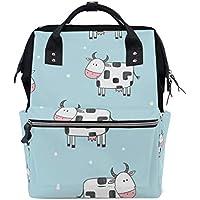 ママバッグ マザーズバッグ リュックサック ハンドバッグ 旅行用 可愛い 乳牛柄 ファション