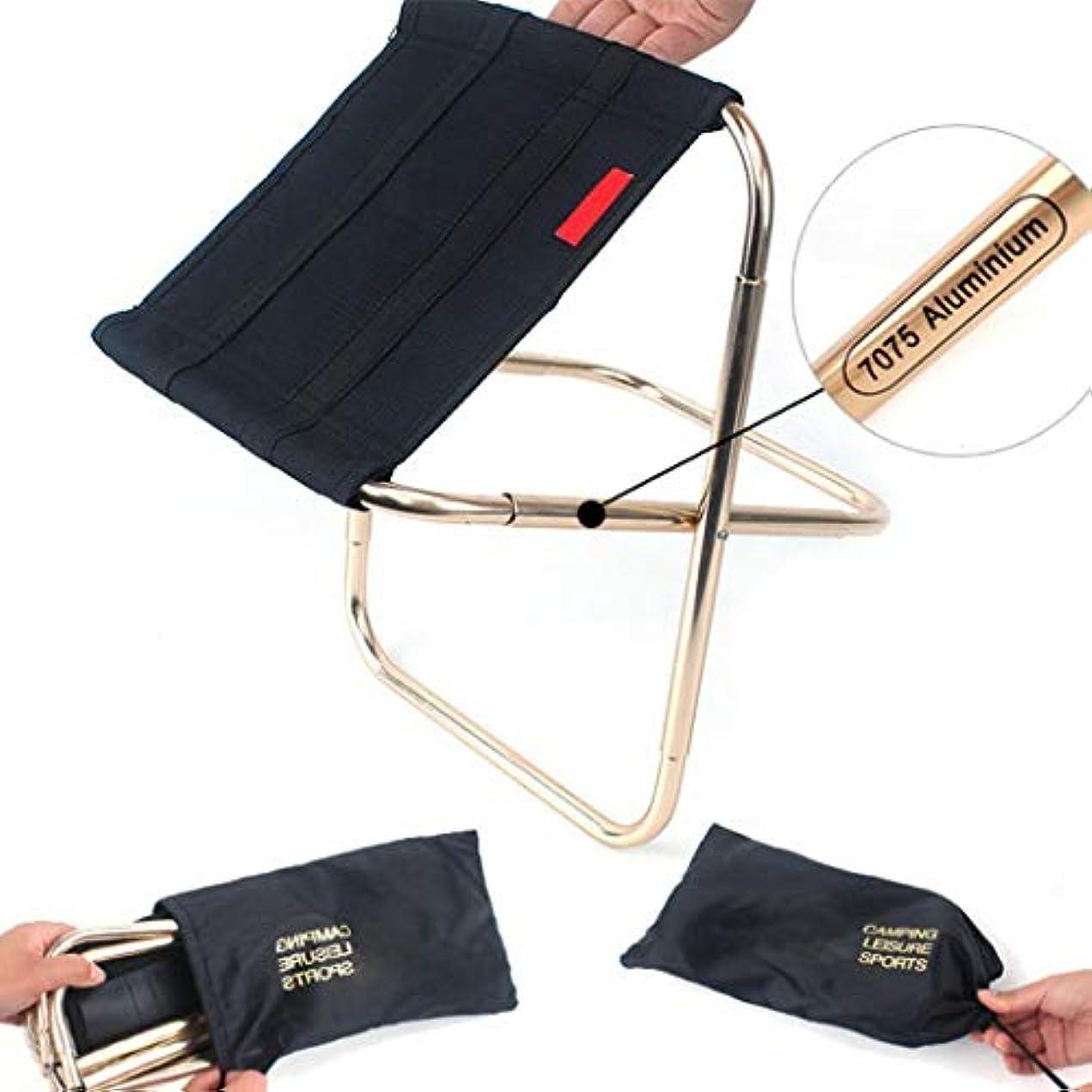 カートンスペクトラムサイズQueind アウトドア ミニ折り畳みチェア ポータブル アルミニウム ハイキング フィッシングチェア