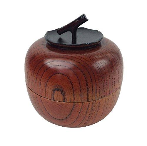 中谷兄弟商会 山中漆器 欅茶入 柿(容量100g) W82-8