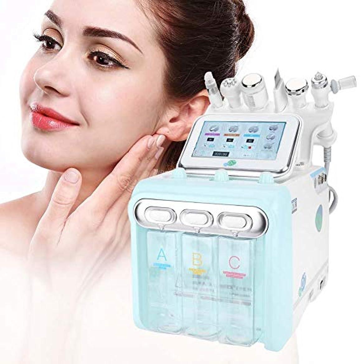 デコラティブバスルームパンダフェイスケアマシン、6で1プロフェッショナル水素酸素美容デバイス、水注入器具、スパサロン機器クリーニング肌の若返り(EUプラグ)
