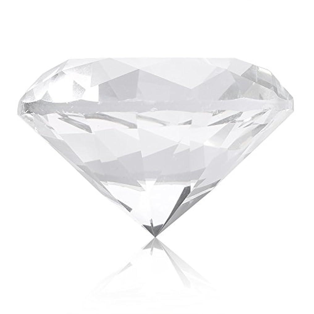 チーム汗オピエートネイルチップスタンド スタンドベース ネイルアートディスプレイ ガラス クリスタル ダイヤモンド 撮影道具 モデル ネイルチップホルダー (ホワイト)