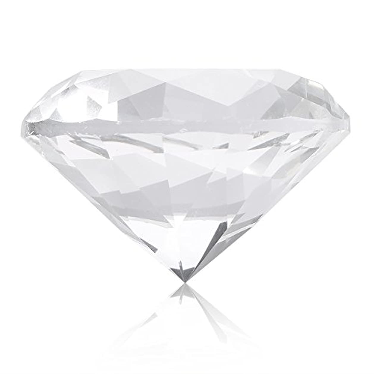 アジャ博物館論理的ネイルチップスタンド スタンドベース ネイルアートディスプレイ ガラス クリスタル ダイヤモンド 撮影道具 モデル ネイルチップホルダー (ホワイト)