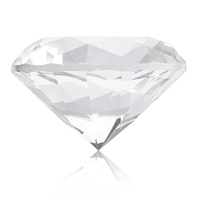 人差し指販売員リネンネイルチップスタンド スタンドベース ネイルアートディスプレイ ガラス クリスタル ダイヤモンド 撮影道具 モデル ネイルチップホルダー (ホワイト)