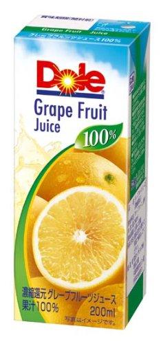 ドール 100%ジュース グレープフルーツ 200X18