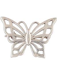 NOVICA .925スターリングシルバー ブローチ 上品な蝶