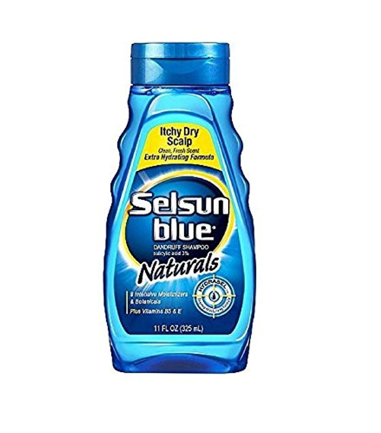 通行人換気するタンパク質Selsun Blue Naturals Dandruff Shampoo Itchy Dry Scalp 325 ml (並行輸入品)