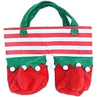 BESTOYARD クリスマスギフトバッグサンタプレゼントバッグクリスマスショッピングバッグサンタクロースクリスマスファブリックバッグクリスマスパーティー用品