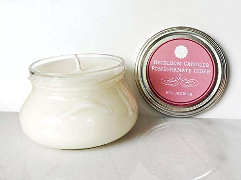 前部ショート与えるPomegranate Cider Scented Soy Candle - Seasonal Holiday Christmas Candle 8oz [並行輸入品]