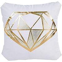 座布団 ファッションホーム枕カバーゴールド箔印刷枕ケース,45cmX45cm,D