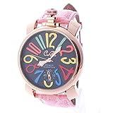 0b02b0344d 位, ピンク&ブラック(D) トップリューズ式ビッグフェイス腕時計 マルチカラー文字盤47mm GaGa MILANO ガガミラノ好きに