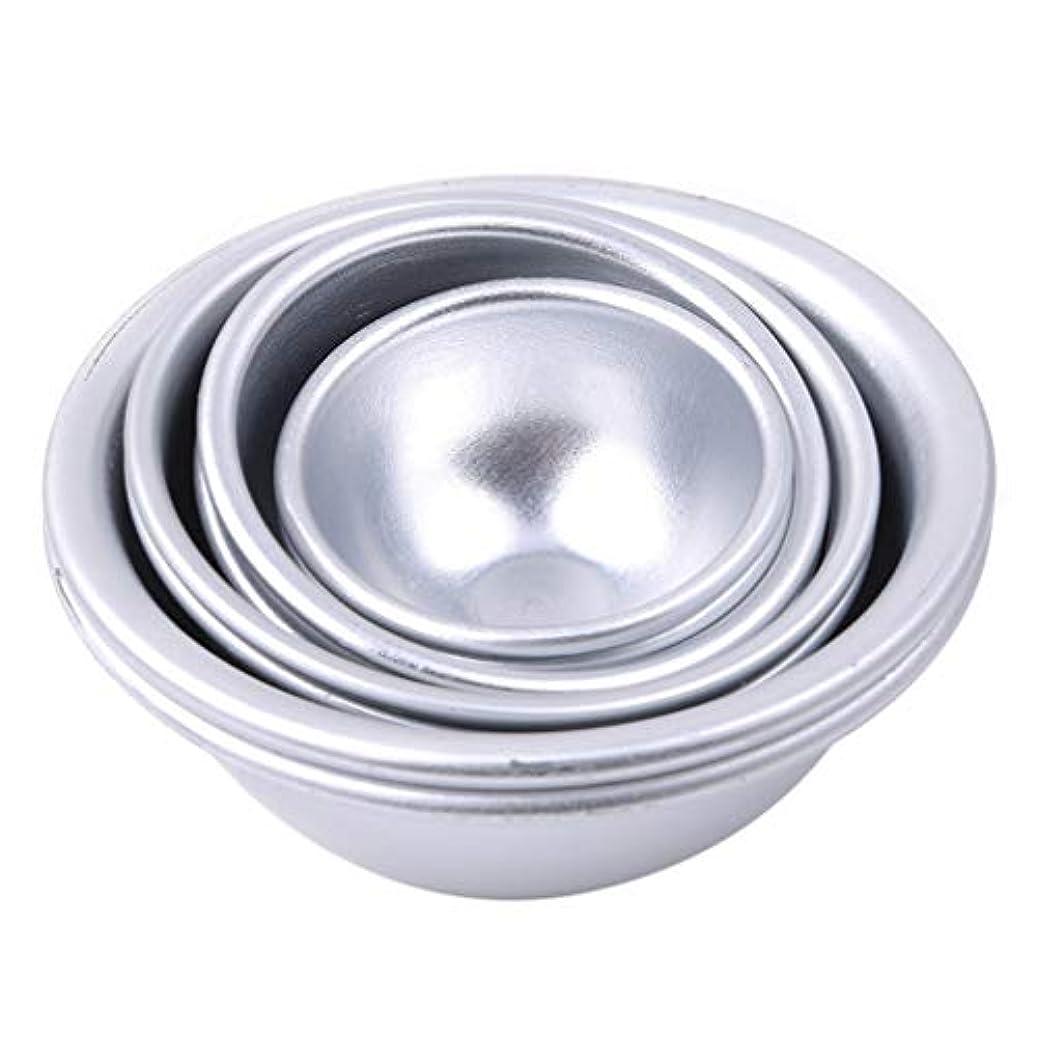 キャプテン差別化する葉Toporchid Diy風呂ボール型アルミ合金入浴ボール手作り石鹸ケーキパンベーキングモールドペストリー作りツール(style2)