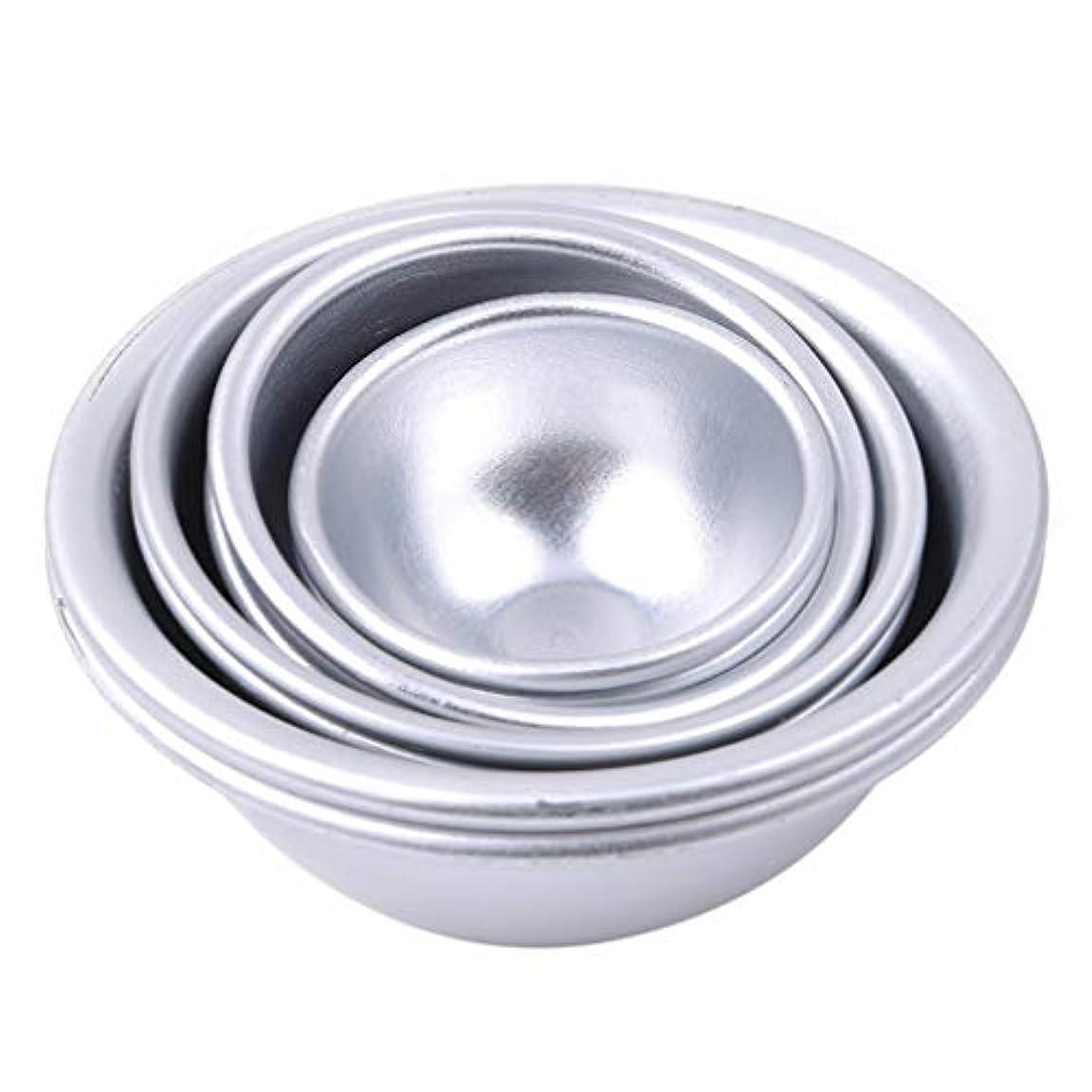 ペア聞くToporchid Diy風呂ボール型アルミ合金入浴ボール手作り石鹸ケーキパンベーキングモールドペストリー作りツール(style2)