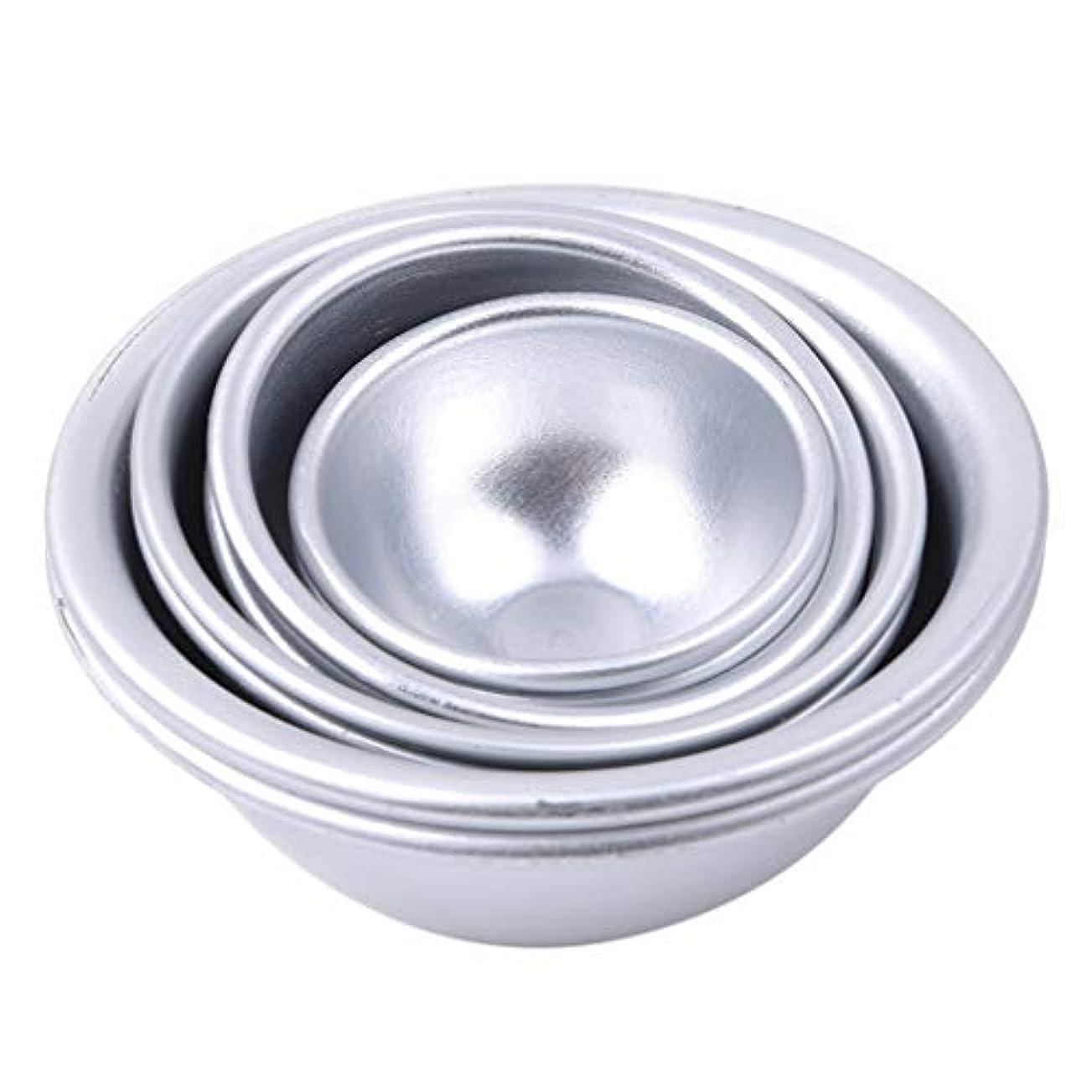 無意識動脈ピークToporchid Diy風呂ボール型アルミ合金入浴ボール手作り石鹸ケーキパンベーキングモールドペストリー作りツール(style2)