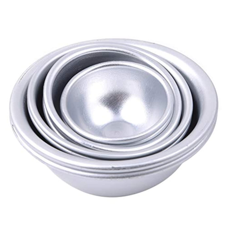 増加するハイライト傷跡Toporchid Diy風呂ボール型アルミ合金入浴ボール手作り石鹸ケーキパンベーキングモールドペストリー作りツール(style2)
