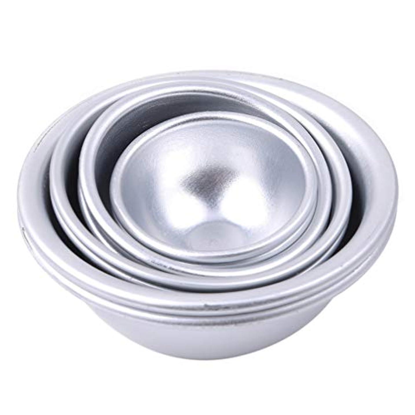 組み立てる経験的底Toporchid Diy風呂ボール型アルミ合金入浴ボール手作り石鹸ケーキパンベーキングモールドペストリー作りツール(style2)