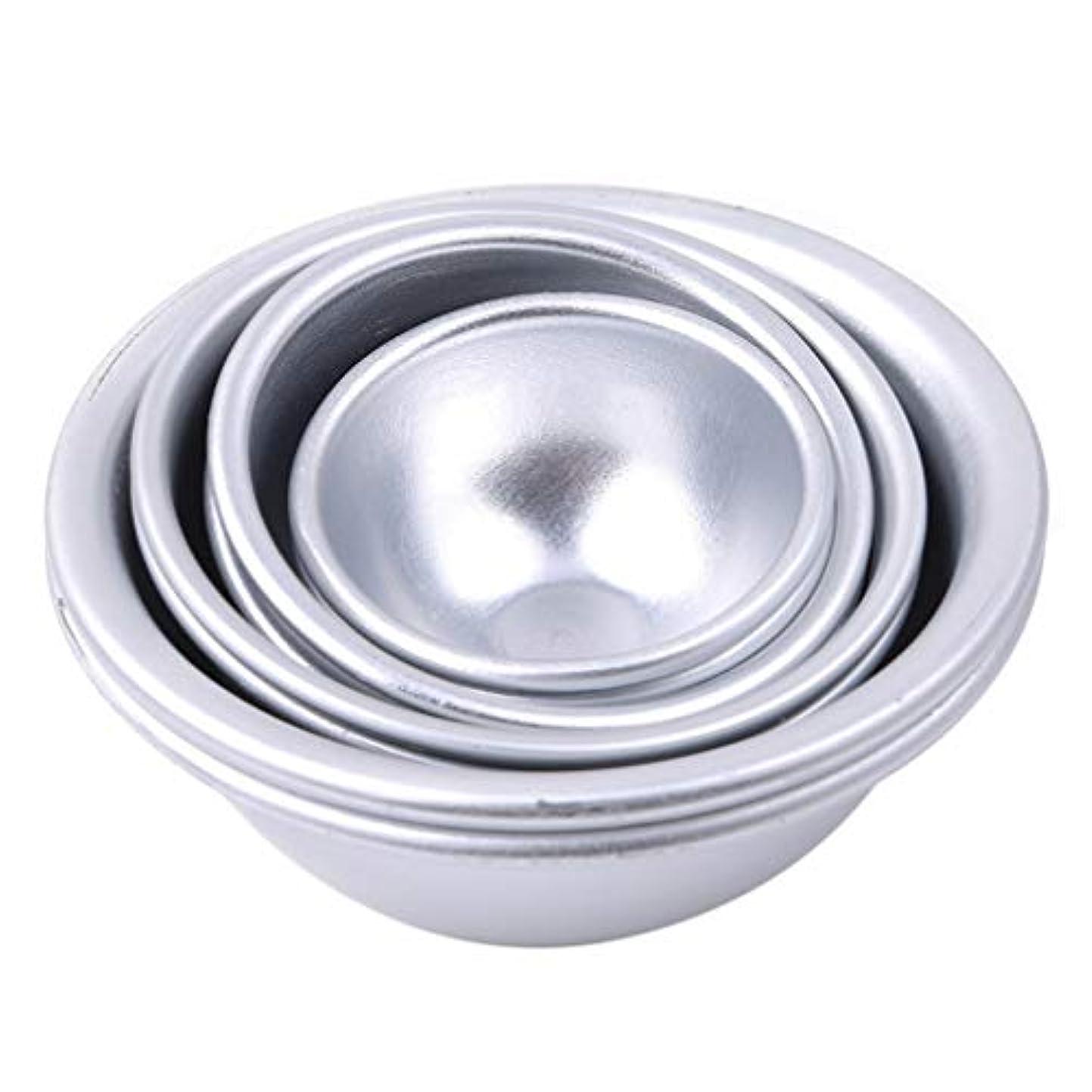 四半期集計比率Toporchid Diy風呂ボール型アルミ合金入浴ボール手作り石鹸ケーキパンベーキングモールドペストリー作りツール(style2)
