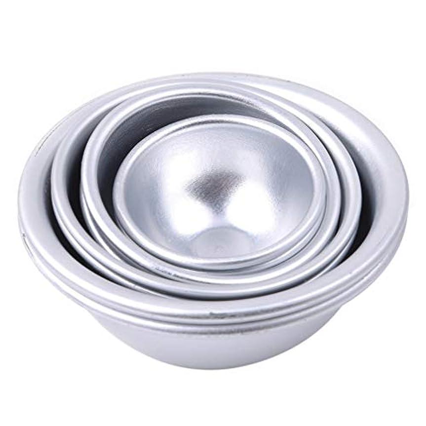 フィード安息忌避剤Toporchid Diy風呂ボール型アルミ合金入浴ボール手作り石鹸ケーキパンベーキングモールドペストリー作りツール(style2)