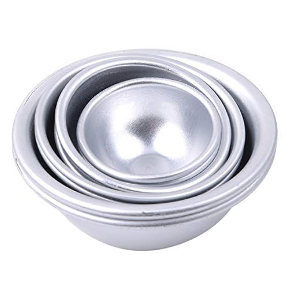 つま先トークンビンToporchid Diy風呂ボール型アルミ合金入浴ボール手作り石鹸ケーキパンベーキングモールドペストリー作りツール(style2)