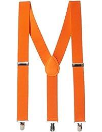 パーティーPerfectチームスピリット大人用サスペンダーアクセサリー、オレンジ、ポリエステル、 1 piece 397282.05