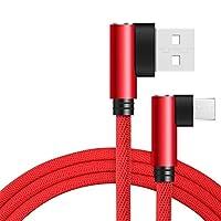 速いサムスンS7小米科技注5用延長ケーブル、ナイロンロープ延長ケーブルを充電ライトニングケーブル、 (Color : Red, Length : 2m)