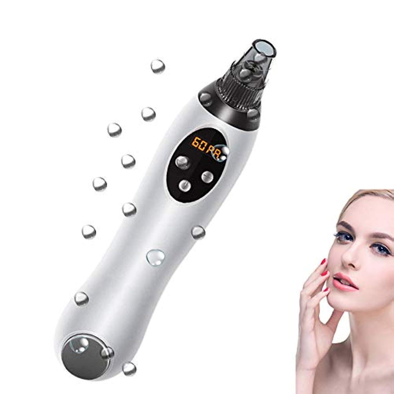アラブサラボ称賛代表ブラックヘッド吸引掃除機リムーバー充電式USB顔面ざ瘡、アクネ毛穴清掃美容ツール,Silver