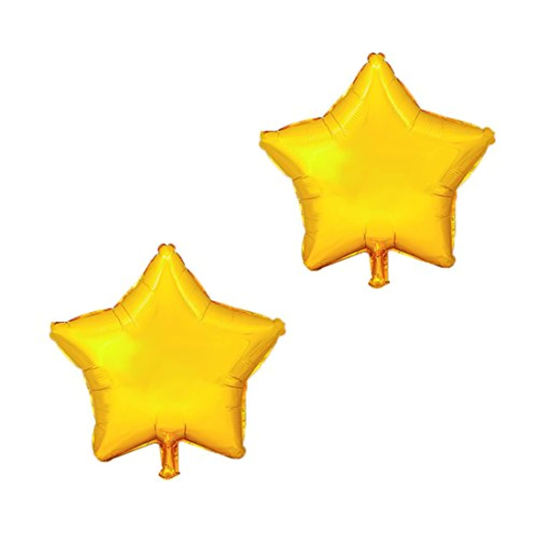 uxcell 風船 星形 風船 誕生日 記念日の装飾 ゴールドトーン 25.4cm 2個入り
