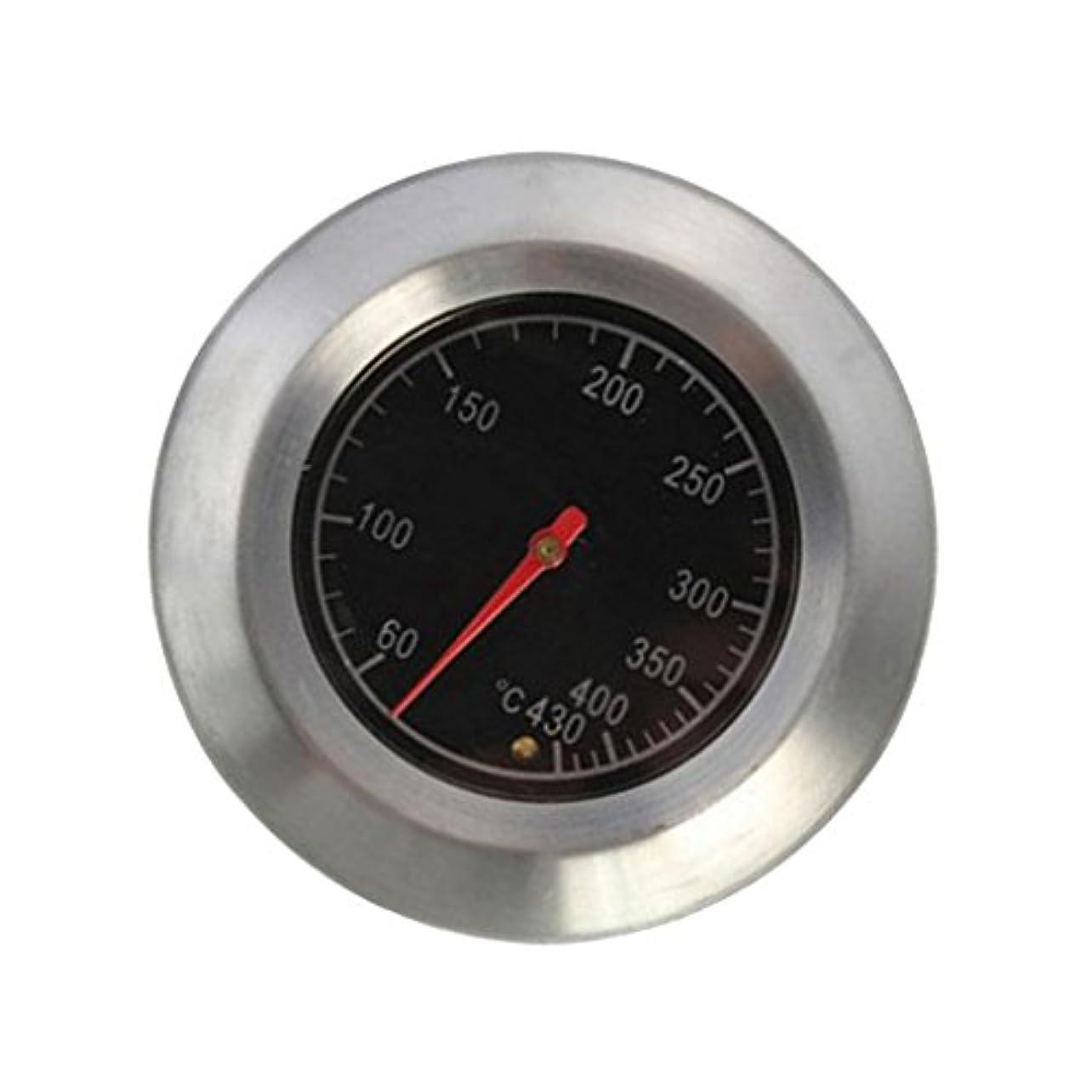 率直な不当怪物Fenteer グリル オーブン  バーベキュー温度計 喫煙者 グリル温度計 ステンレス鋼 シルバー 使いやすい
