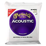 Martin アコースティックギター弦 ACOUSTIC (80/20 Bronze) Multi Packs M-140 PK3 Light .012-.054