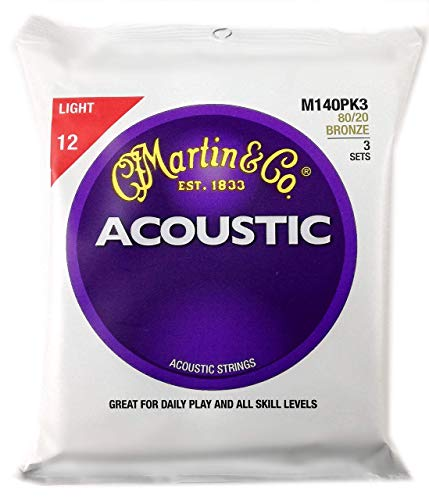 Martin アコースティックギター弦 ACOUSTIC?(80/20 Bronze) Multi Packs M-140 PK3 Light .012-.054