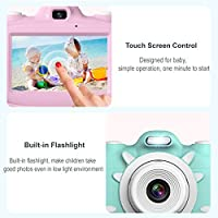 FOKEN Digital Kids Camera 3Inch TouchScreen Dual Lens Cartoon Photography Birthday Gift