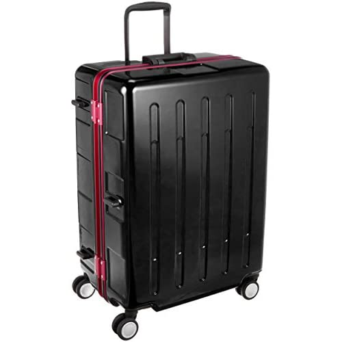 [プラスワン] スーツケース等   96L 66.5cm 5.2kg 107-67 BLACK/RED ブラック/レッド
