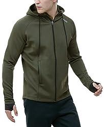 (テスラ)TESLA メン-ズ ランニング ジャケット フード付き [UVカット・防風]・MKJ01