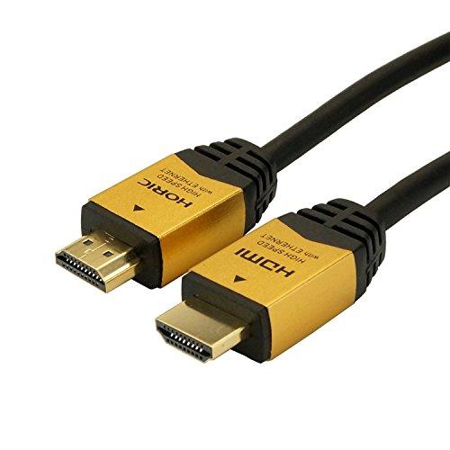 HORIC ハイスピードHDMIケーブル 1.5m ゴールド 4K/60p HDR 3D HEC ARC リンク機能 HDM15-891GD