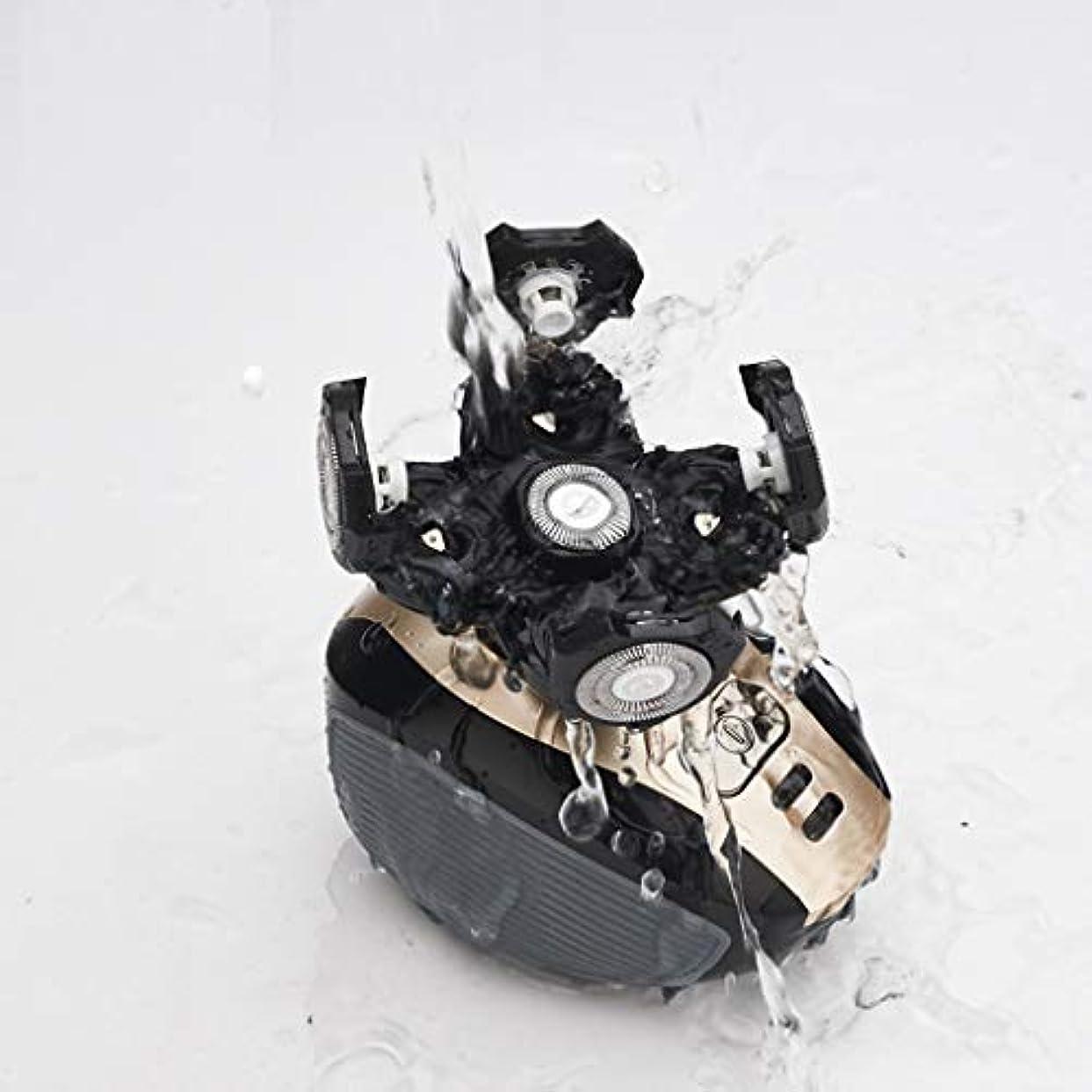 師匠半導体チャレンジスモールメンズカミソリ、コードレス充電式ウェット&ドライ多目的ひげトリマー、ギフト