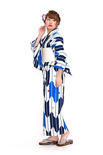 20タイプから浴衣が選べる2016浴衣福袋浴衣セット[浴衣+半幅帯+下駄]3点セット レディース