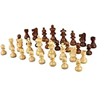 Morrigana High Quality Weighted Wood Chess Pieces - Pieces Only - No Board - 3 Inch King [並行輸入品]