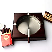 創造的なヴィンテージ木製灰皿リビングルームステンレススチール灰皿3つのサイズで利用可能 (サイズ さいず : 11cm)