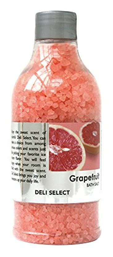 一目感じる不十分デリセレクト バスソルト グレープフルーツ 350g(塩タイプ入浴料)