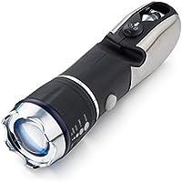 アウトドア 防災 LED 懐中電灯 十徳付き ズーム倍率調整可 照射距離約150~200m