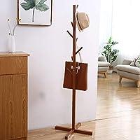 Yan 創造的な木の形をした木製の床の床置き用ハンギングラック、サイズ:165 x 50 x 5 cm(コーヒー) (色 : Coffee)