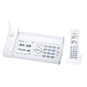 パナソニック デジタルコードレスFAX 子機1台付き 1.9GHz DECT準拠方式 ホワイト KX-PD505DL-W