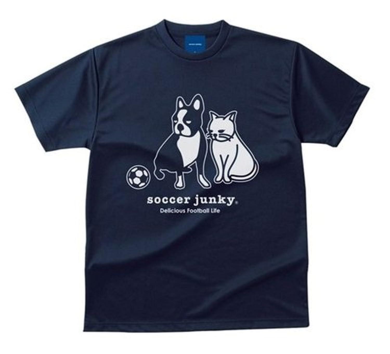 soccer junkyサッカージャンキー『P&N』ドライTEE Lサイズ SJ17045 (21) ネイビー