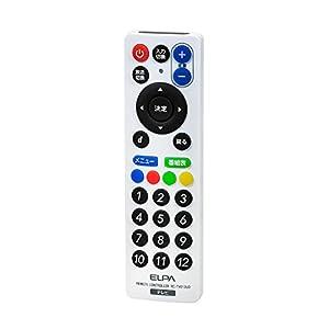 ELPA エルパ 朝日電器 RC-TV013UD スリムリモコン RC-TV013UD