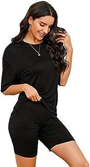 SheIn Jersey Women's Sportswear Yoga Wear Top and Bottom Set, Fitness, Hot Yoga, Training, Jogging, Short