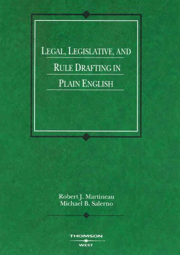 Download Legal, Legislative, And Rule Drafting in Plain English (American Casebook Series) 0314153012