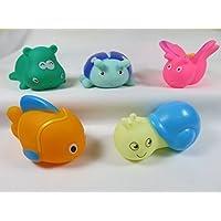 Kidelle (TM) Bath Toys Sea Creatures 5 pieces for Kids Water Fun [並行輸入品]